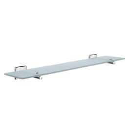 Glass shelf with brackets SMEDBO HOUSE - Polished chrome